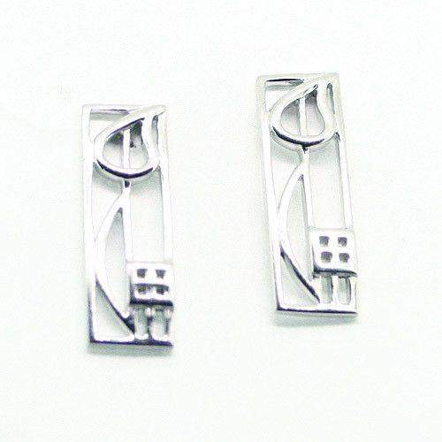 Sterling Silver Mackintosh Earrings- E523-Ogham Jewellery