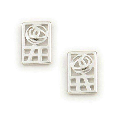 Sterling Silver Mackintosh Earrings- E624 ORT-Ogham Jewellery