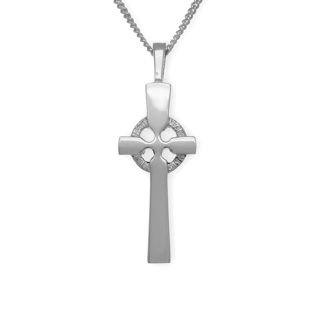 Sterling Silver or 9 cara Yellow Gold Celtic Cross- P62 ORT-Ogham Jewellery