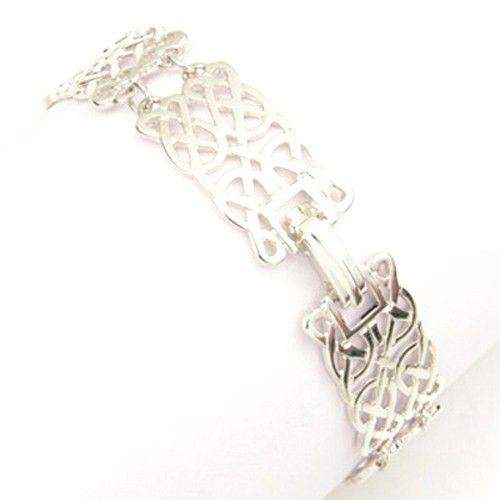 Sterling Silver or 9ct Gold Celtic Bracelet - BL76-Ogham Jewellery
