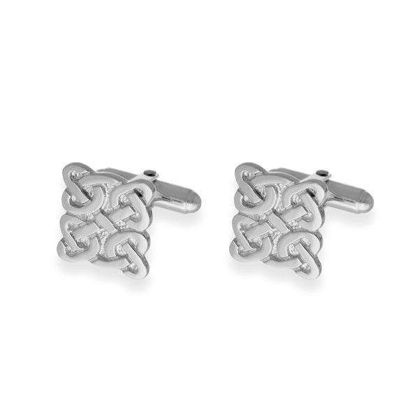 Sterling Silver or 9ct Gold Celtic Cufflinks-CL65-Ogham Jewellery