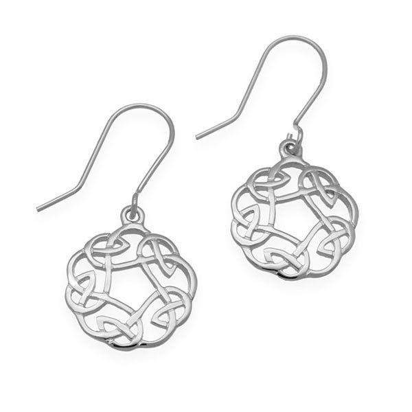 Sterling Silver or 9ct Gold Celtic Drop Earrings - E322-Ogham Jewellery