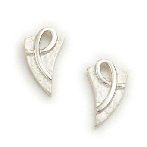 Sterling Silver or 9ct Gold Celtic Earrings - E1136 ORT-Ogham Jewellery