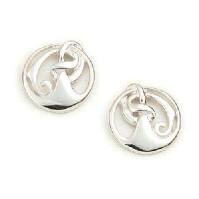 Sterling Silver or 9ct Gold Celtic Earrings - E558-Ogham Jewellery