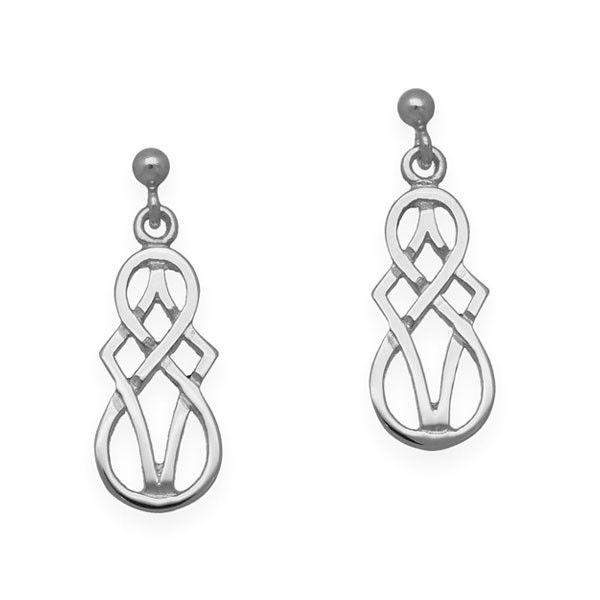 Sterling Silver Or 9ct Gold Celtic Earrings - E97-Ogham Jewellery