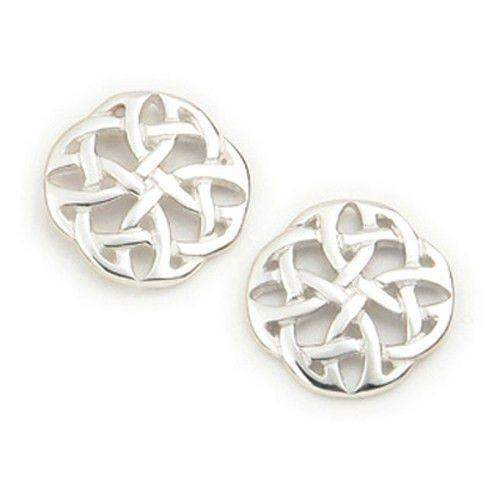 Sterling Silver or 9ct Gold Celtic Knot Earrings- E1124-Ogham Jewellery