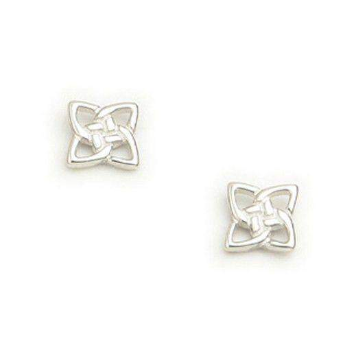 Sterling Silver or 9ct Gold Celtic Knot Stud Earrings - E793-Ogham Jewellery