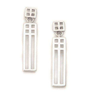 Sterling Silver or 9ct Gold Earrings E631-Ogham Jewellery
