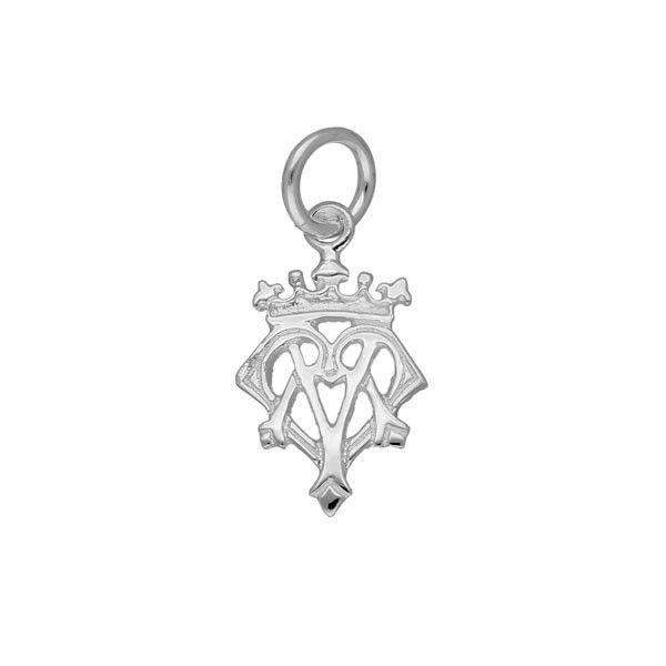 Sterling Silver or 9ct Gold Luckenbooth Charm- C166  ORT