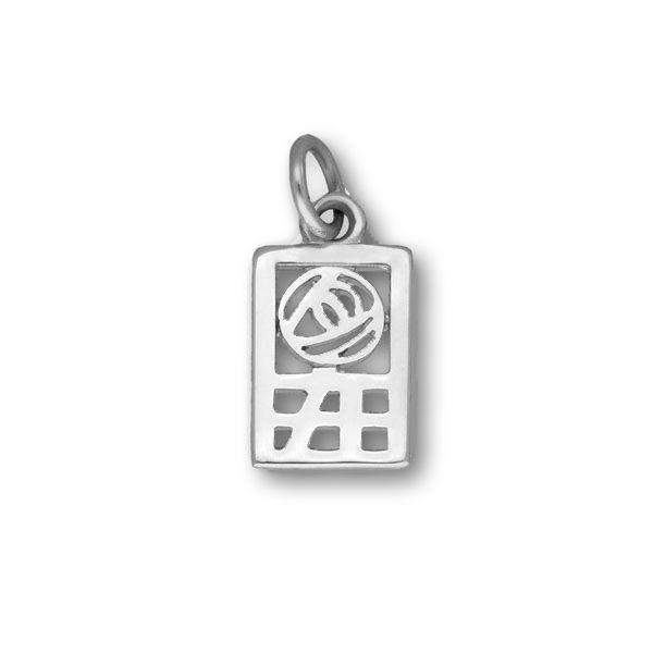 Sterling Silver or 9ct Gold Rennie Mackintosh Charm - C181-Ogham Jewellery