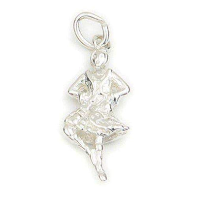 Sterling Silver or 9ct Gold Scottish Dancer Charm - C158-Ogham Jewellery