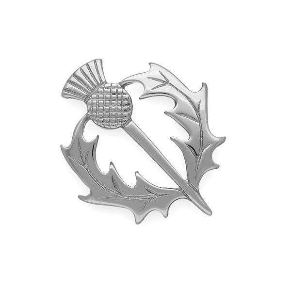 Sterling Silver or 9ct Gold Thistle Brooch - B38 ORT-Ogham Jewellery