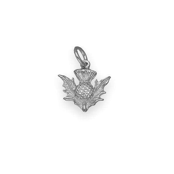 Sterling Silver or 9ct Gold Thistle Charm - C13-Ogham Jewellery