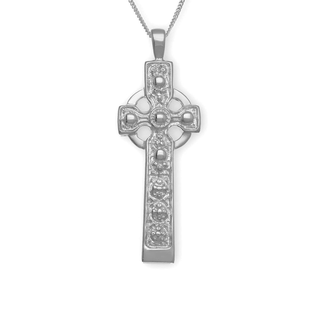 Sterling Silver or Gold Celtic Cross- P168 ORT-Ogham Jewellery