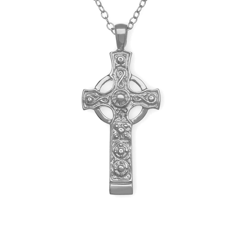 Sterling Silver or Gold Celtic Cross- P169 ORT-Ogham Jewellery