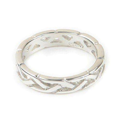 Sterling Silver or Gold Celtic Knot Ring - Ortak R156-Ogham Jewellery
