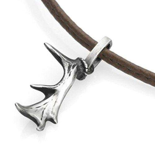 Sterling Silver Stag Antler Pendant-Ogham Jewellery