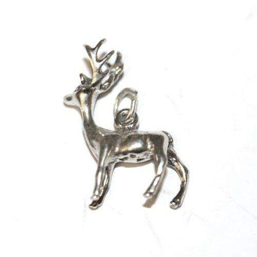 Sterling Silver Stag Charm-Ogham Jewellery