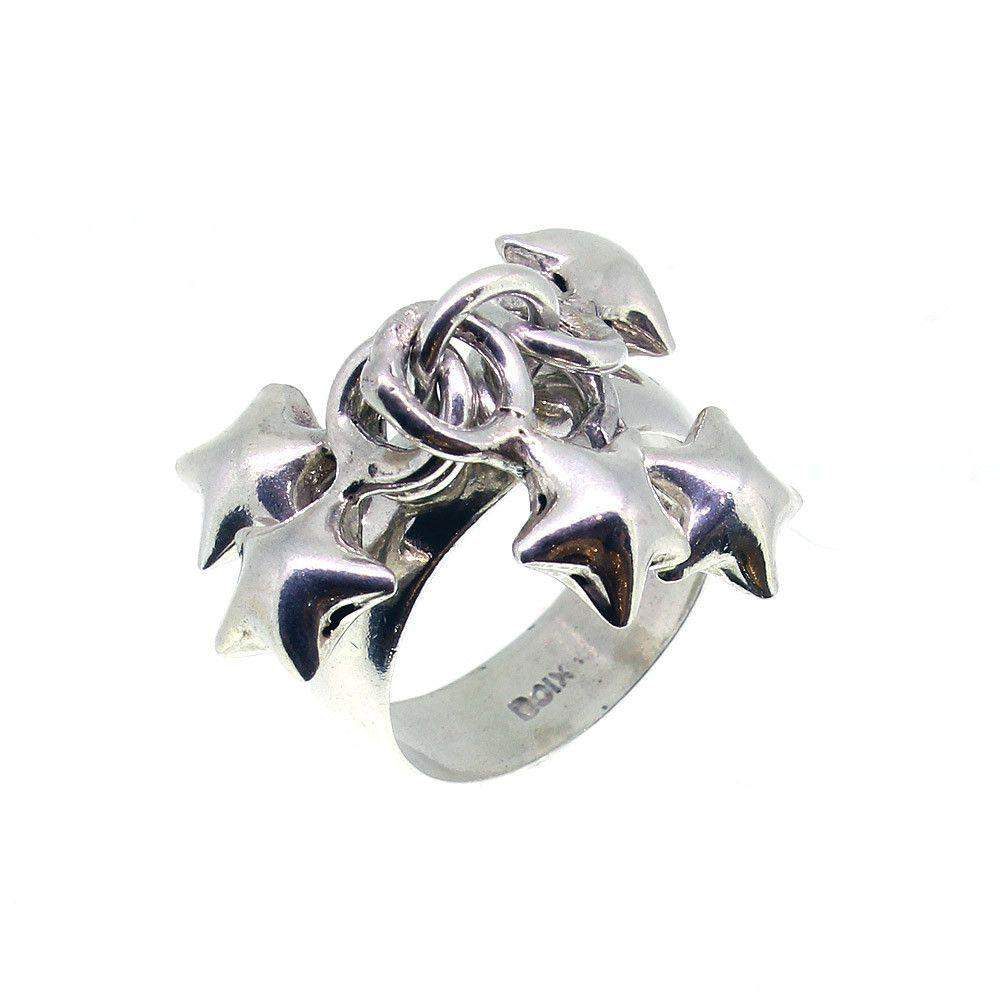 Sterling Silver Star Ring - R07-Ogham Jewellery