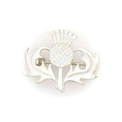Sterling Silver Thistle Brooch - B122 ORT-Ogham Jewellery