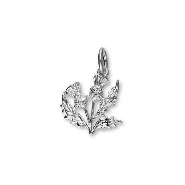 Sterling Silver Thistle Charm - C14 ORT-Ogham Jewellery