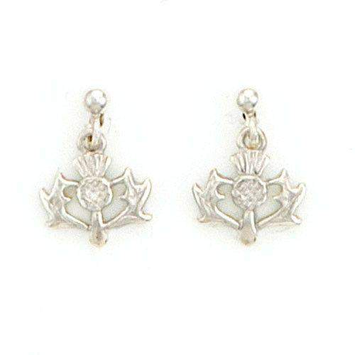 Sterling Silver Thistle Earrings  - SE150