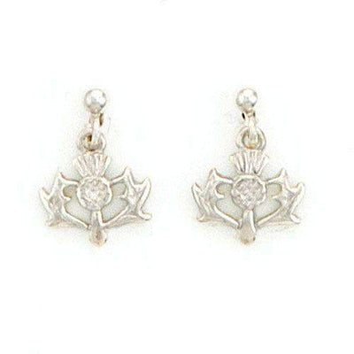 Sterling Silver Thistle Earrings - SE150-Ogham Jewellery