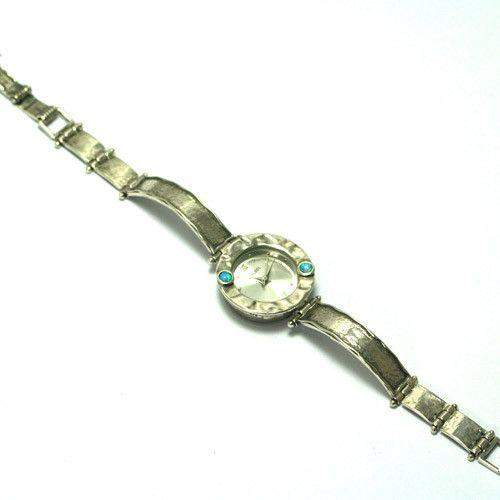 Sterling Silver Watch With Opalines