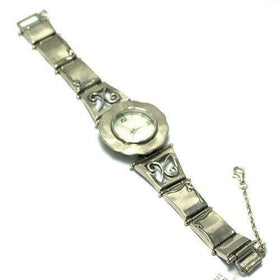 Sterling Silver Watch with Scroll Details W2936-Ogham Jewellery