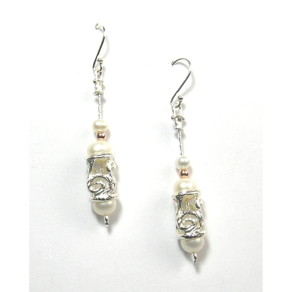 Silver And Pearl Earrings -ED524