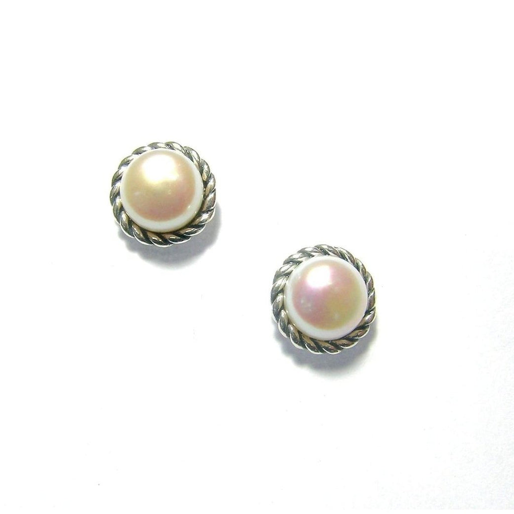 Silver And Pearl Earrings -ED8758