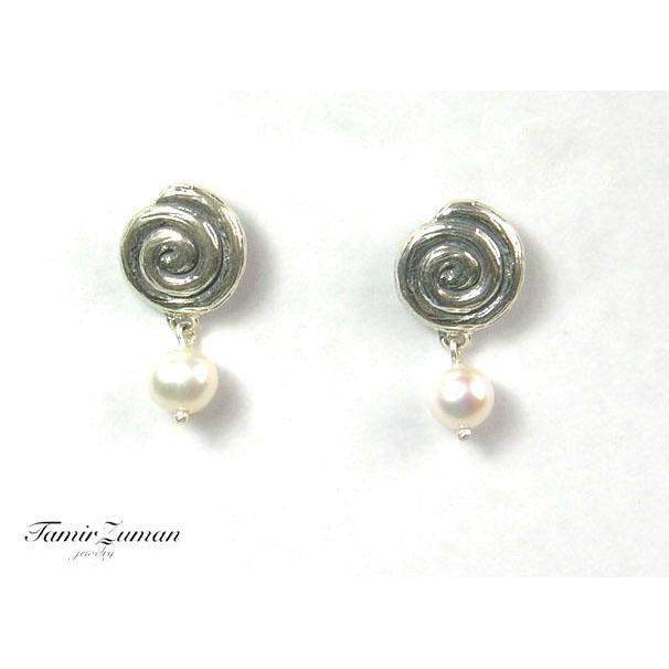 Silver And Pearl Earrings -E5041