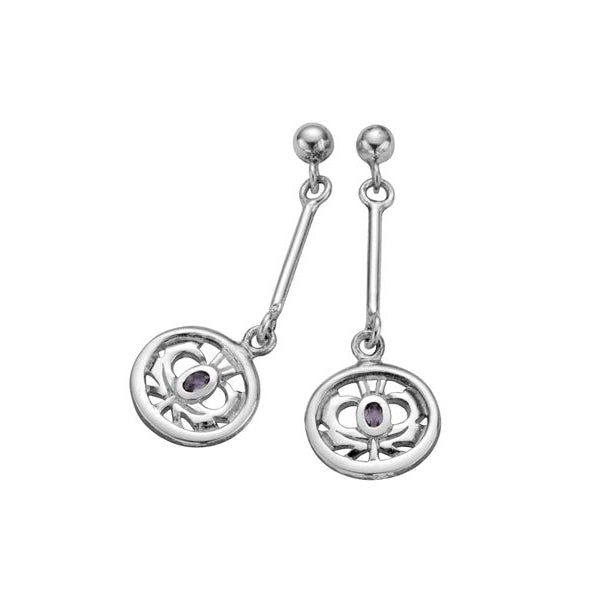 Kilry Scottish Thistle Drop Earrings - TH027