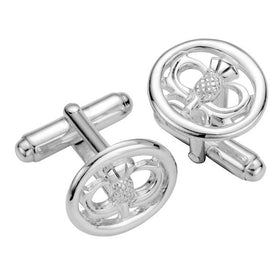 Silver Scottish Thistle Cufflinks - TH029CL