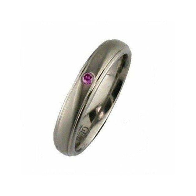 Titanium and Pink Diamond Ring - 2205PDS