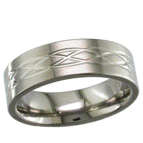 Titanium Celtic Knot Wedding Ring   T017 Ogham Jewellery