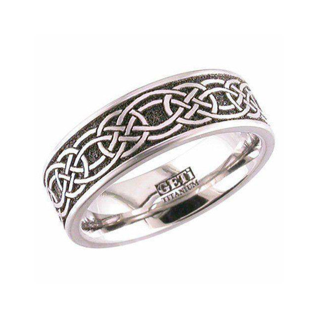 Titanium Celtic Knotwork Ring - 2226CLK1