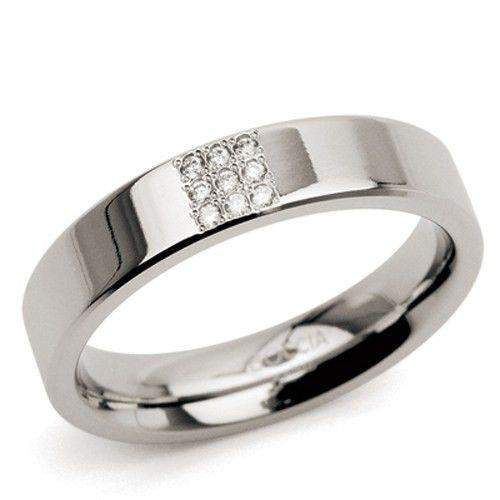 Titanium Ring with Round Diamonds 0121-Ogham Jewellery