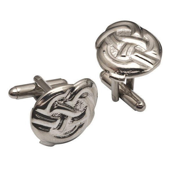 Celtic Button Knot Pewter Cufflinks - TRCL503