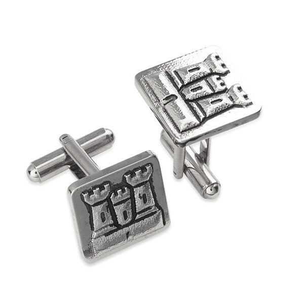 Castle Pewter Cufflinks - TRCL514