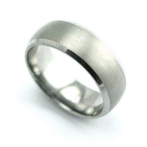Tungsten Ring With Chamfered Edges-Ogham Jewellery