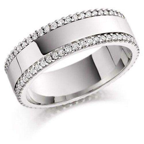Two Row Full Eternity Ring 0.52ct - Various Metals Available -ET528BN-Ogham Jewellery