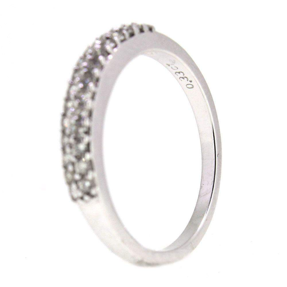 White Gold & Diamonds Ring-71R013W18-Ogham Jewellery
