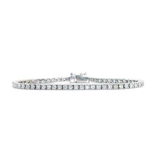 White or Yellow Gold & Diamond Line Bracelet 1.00-6.00ct - G1390-Ogham Jewellery