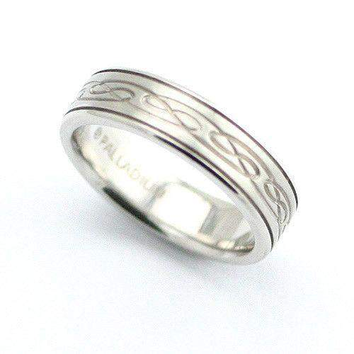 White or Yellow Gold Spinning Celtic Ring - W3937K-Ogham Jewellery