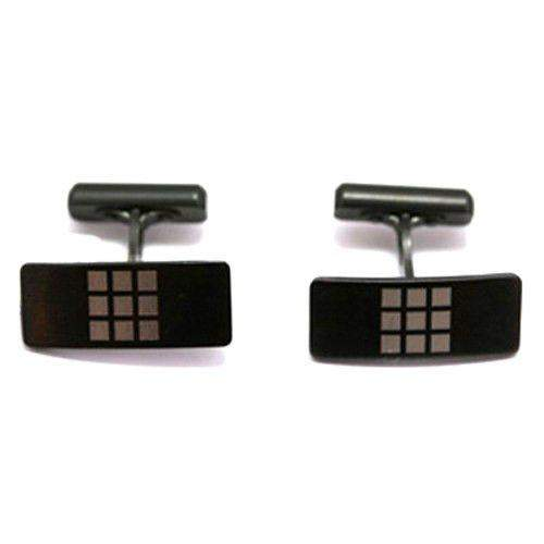 Zirconium Rectangular Cufflinks 6026-Ogham Jewellery