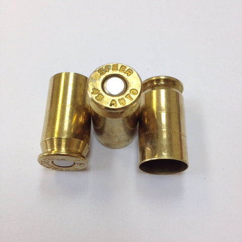45 ACP PRIMED BRASS FROM PULL DOWN.