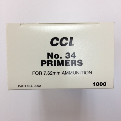 CCI #34 Large Rifle Military Primers
