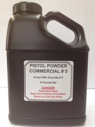 COMMERCIAL #5 PISTOL POWDER / CROSS WITH ACCURATE #5
