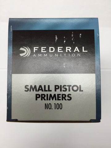 Federal N0. 100 Small Pistol Primers.